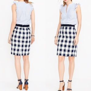 J. Crew Pencil Skirt in Checkered Tweed